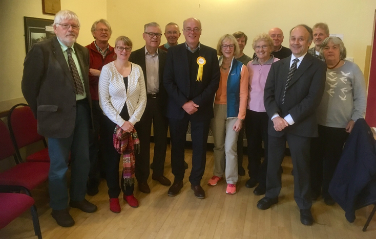 Members with Andrew Murday, the new PPC for Skipton and Ripon