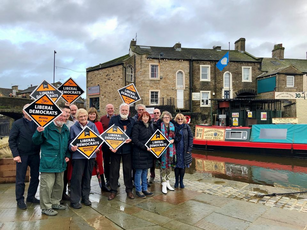 Campaigners in Skipton