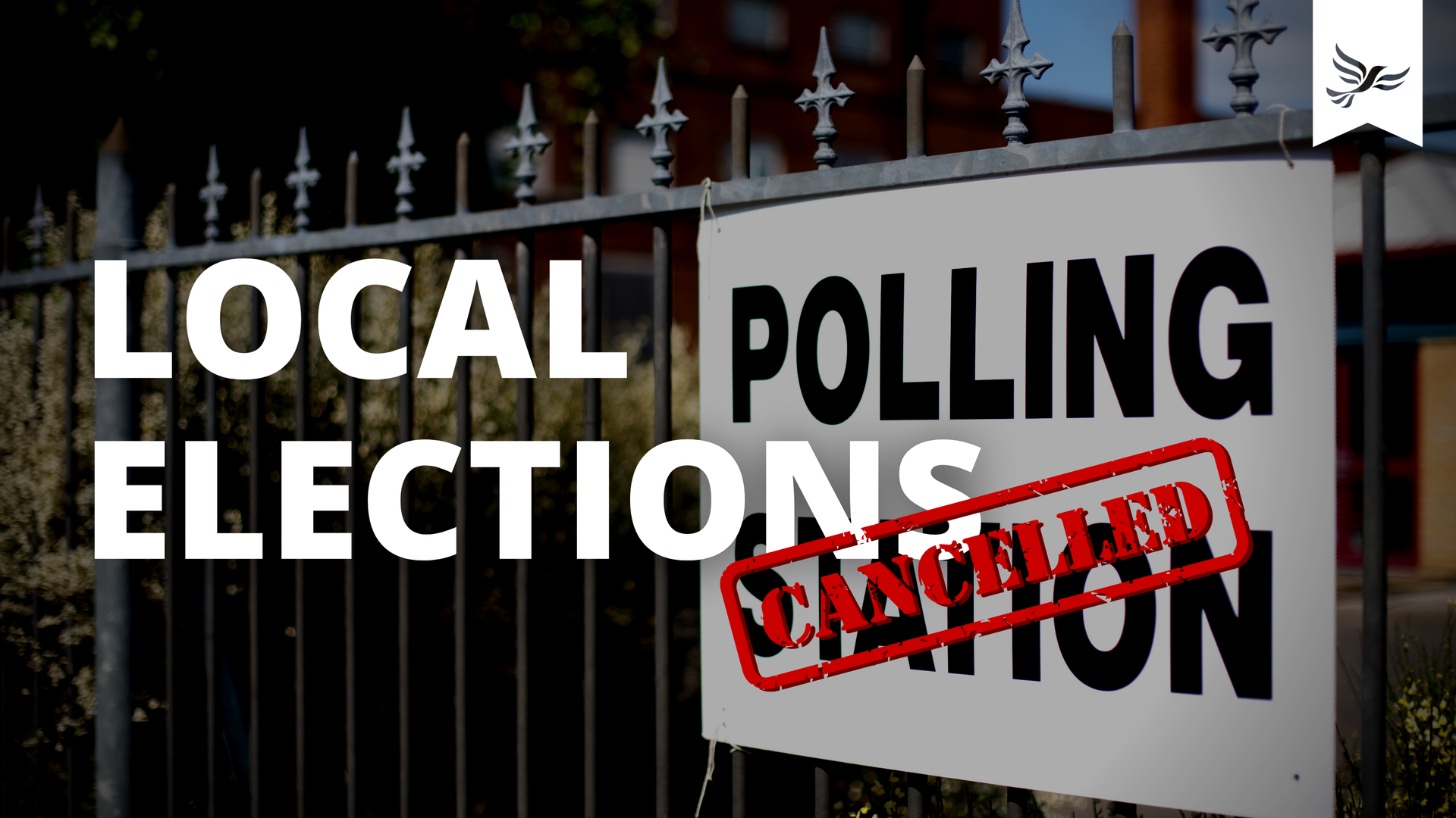 Local elections cancelled graphic